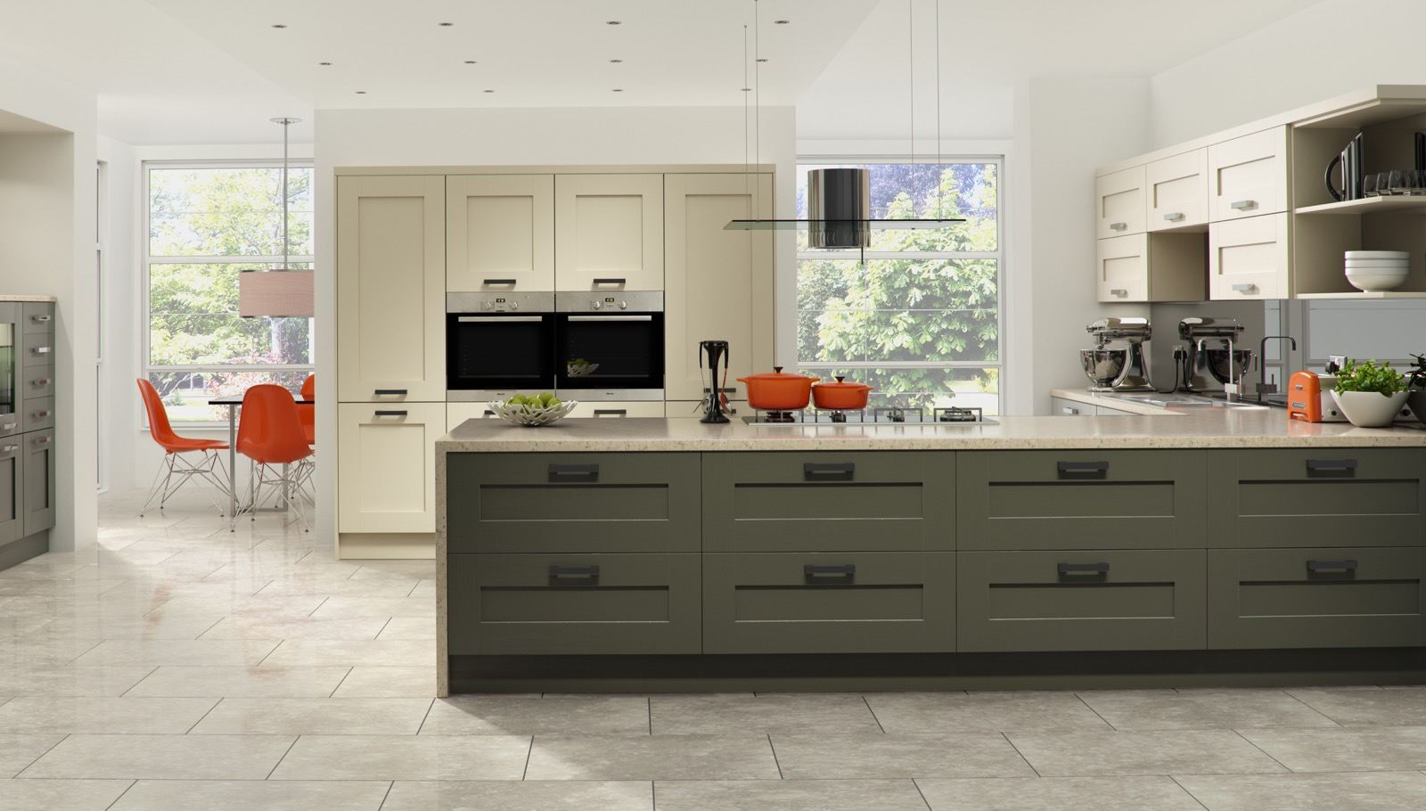 Windsor Shaker Painted in Lava & Stone